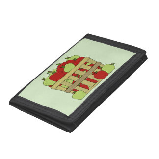 A Basket of Apples Trifold Wallet