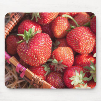 A basket of de strawberries mouse pads