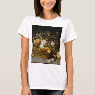 A Basket of Flowers - Jan Brueghel the Younger T-Shirt