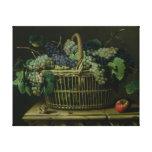 A Basket of Grapes Canvas Print