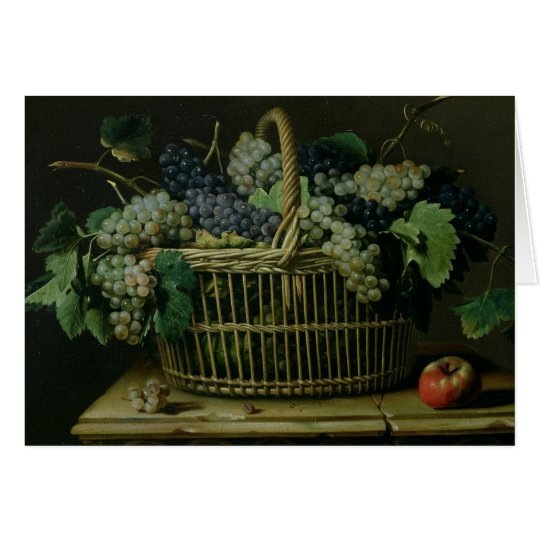 A Basket of Grapes Card