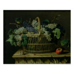 A Basket of Grapes Poster