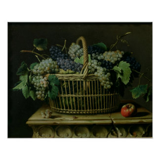 A Basket of Grapes Posters