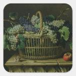 A Basket of Grapes Square Sticker