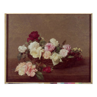 A Basket of Roses, 1890 Poster
