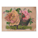 A Basket of Victorian Roses For Your BirthdayThis Greeting Cards