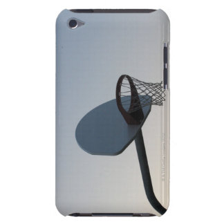 A basketball backboard hoop and net. Clear blue Barely There iPod Cover