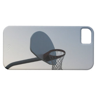 A basketball backboard hoop and net. Clear blue iPhone 5 Covers