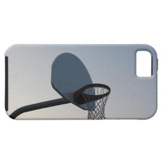 A basketball backboard hoop and net. Clear blue iPhone SE/5/5s Case