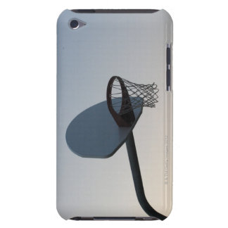 A basketball backboard hoop and net. Clear blue iPod Case-Mate Case
