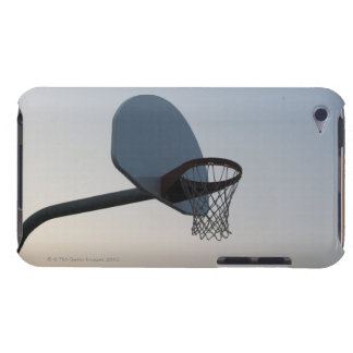A basketball backboard hoop and net. Clear blue iPod Touch Cover