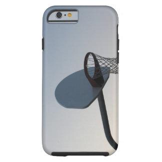 A basketball backboard hoop and net. Clear blue Tough iPhone 6 Case