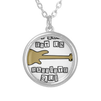 A BASS PLAYER WHO SLAPE IS A BASS PLAYER WHO IT SILVER PLATED NECKLACE
