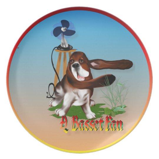A Basset Fan Plate