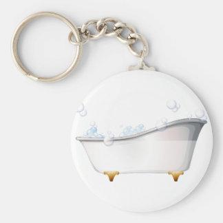 A bathtub keychain