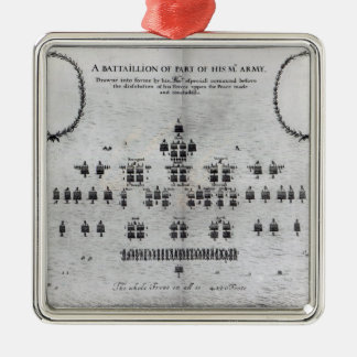 A Battalion of Part of his Majesty's Army Metal Ornament