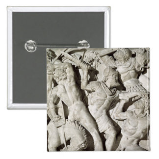 A battle between Romans and Galatians 2 Inch Square Button