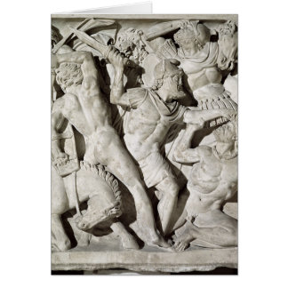 A battle between Romans and Galatians Greeting Cards