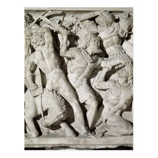 A battle between Romans and Galatians Post Card