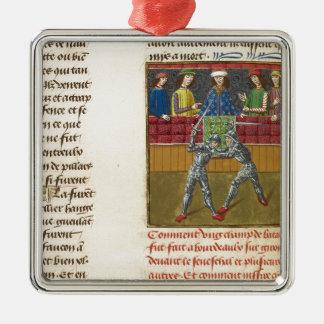A Battle in Bordeaux Metal Ornament