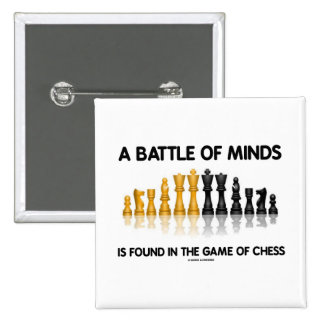 A Battle Of Minds Is Found In The Game Of Chess 2 Inch Square Button