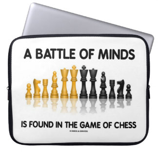 A Battle Of Minds Is Found In The Game Of Chess Laptop Sleeve