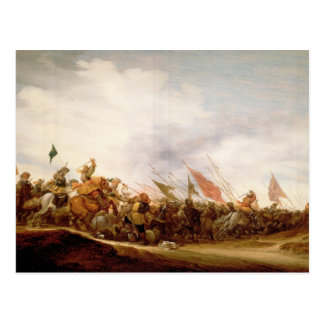 A Battle Scene, 1653 Postcard