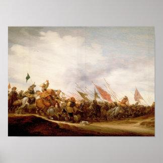 A Battle Scene, 1653 Poster