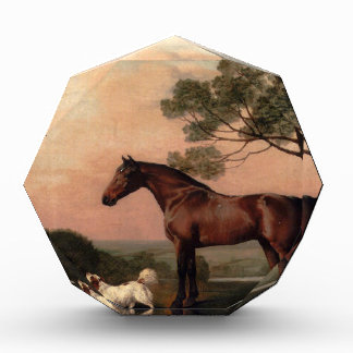 A Bay Hunter With Two Spaniels by George Stubbs Awards