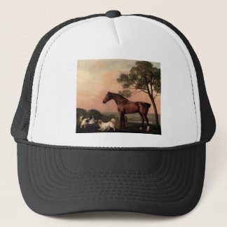 A Bay Hunter With Two Spaniels by George Stubbs Trucker Hat