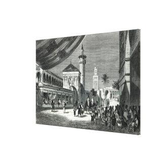 A Bazaar at Tunis Canvas Print