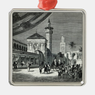 A Bazaar at Tunis Square Metal Christmas Ornament