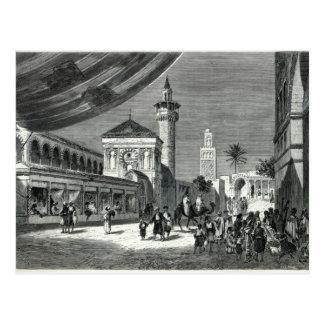 A Bazaar at Tunis Postcard