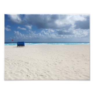 A Beach Chair Awaits Photo Print