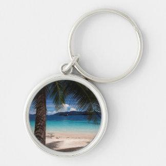 A Beach On Koh Wai Island In Thailand Keychain