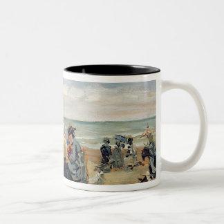 A Beach Scene Two-Tone Coffee Mug