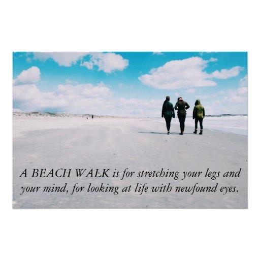 "A Beach Walk... 28"" x 18.67"" Poster"
