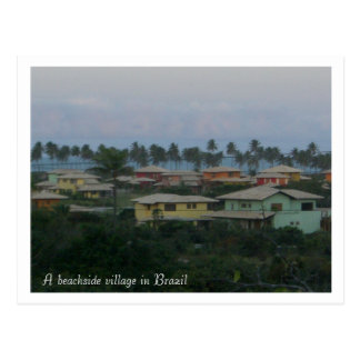 A beachside village in Brazil pos... - Customized Postcard
