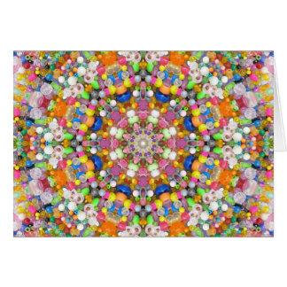 A Bead Mandala Greeting Card