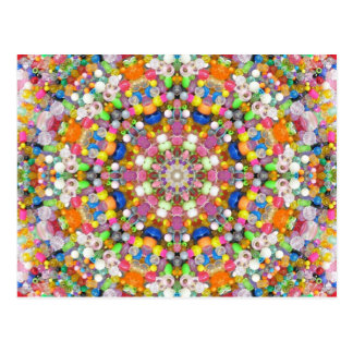 A Bead Mandala Post Card
