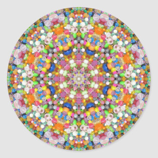 A Bead Mandala Round Sticker
