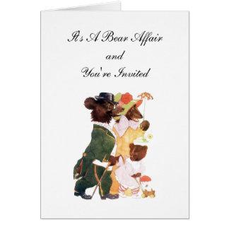 A Bear Affair Invite Card