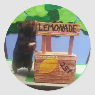 A Bear at the Lemonade Stand! Classic Round Sticker