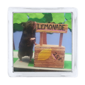 A Bear at the Lemonade Stand! Silver Finish Lapel Pin