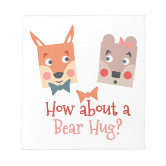 A Bear Hug Memo Notepad