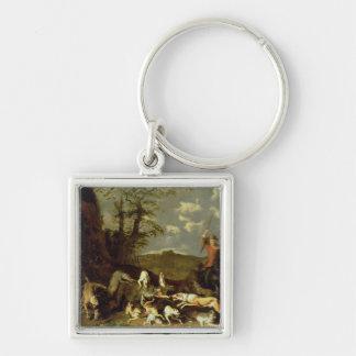 A Bear Hunt, 1655 Keychain