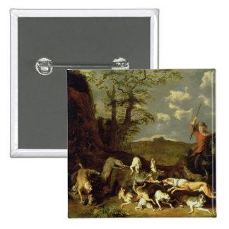A Bear Hunt, 1655 Pinback Button