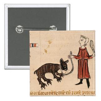 A Bear Keeper, from 'Decrets de Gratien' Button