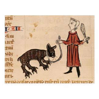 A Bear Keeper, from 'Decrets de Gratien' Postcard