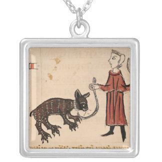 A Bear Keeper, from 'Decrets de Gratien' Silver Plated Necklace